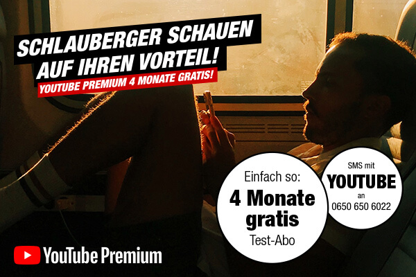 YouTube Premium 4 Monate gratis!
